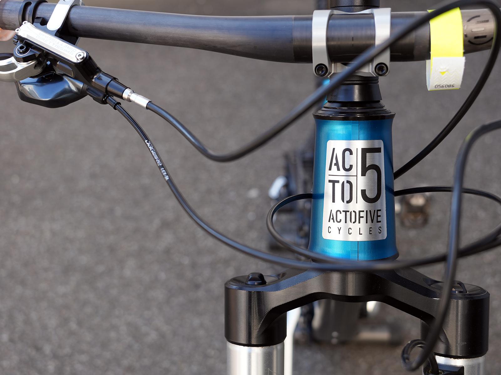 actofive enduro mountain bike with high pivot