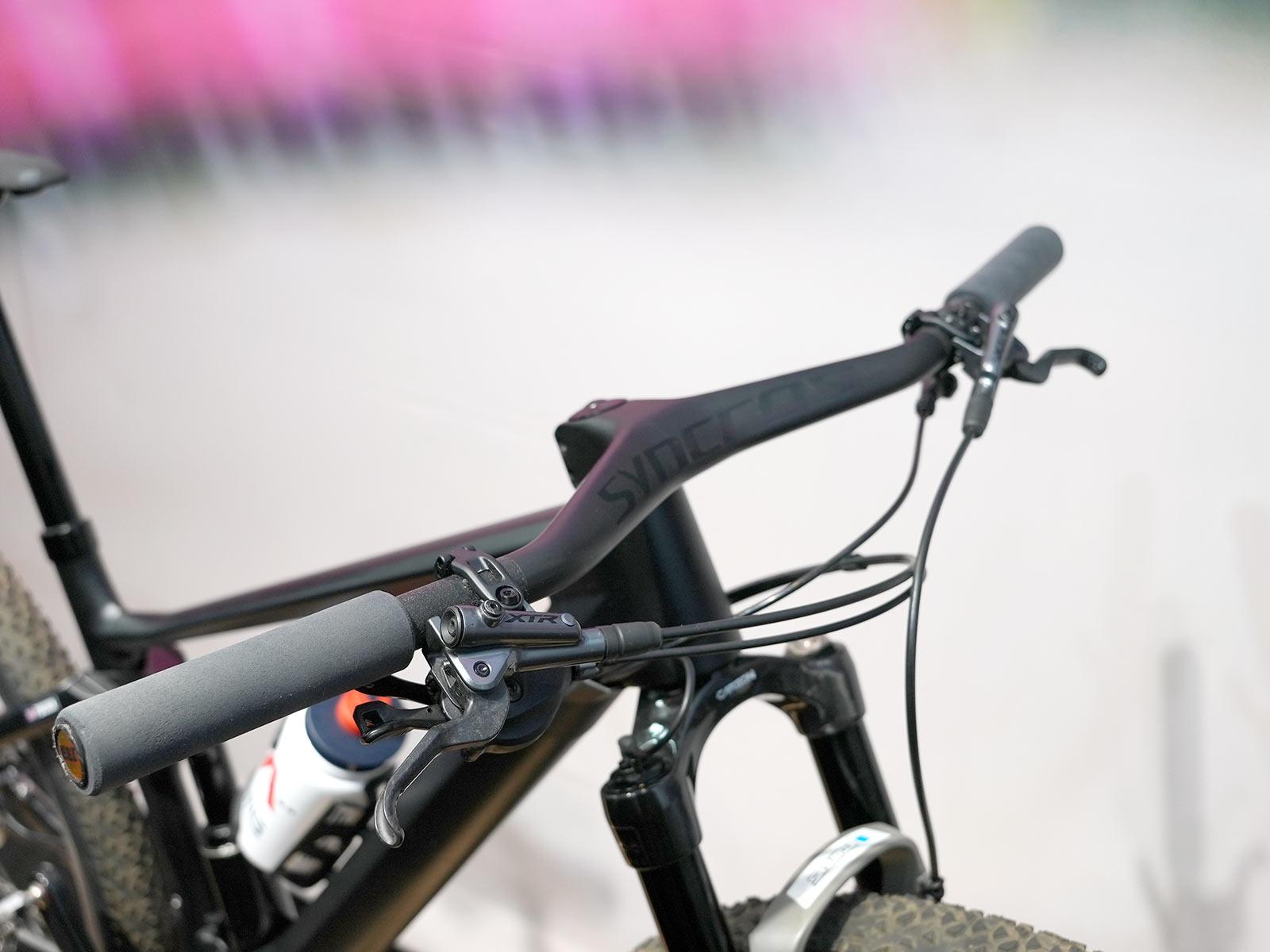 syncros cockpit and esi grips on tom pidcock's olympic mountain bike