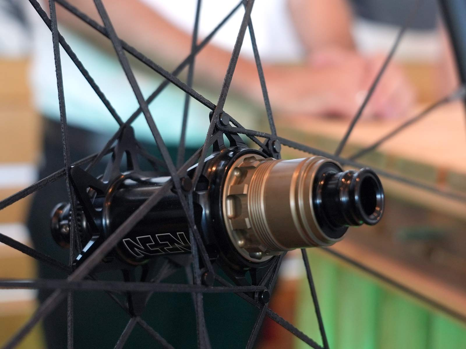 one k wheels bicycle wheels with one-piece carbon fiber spoke sheets closeup details