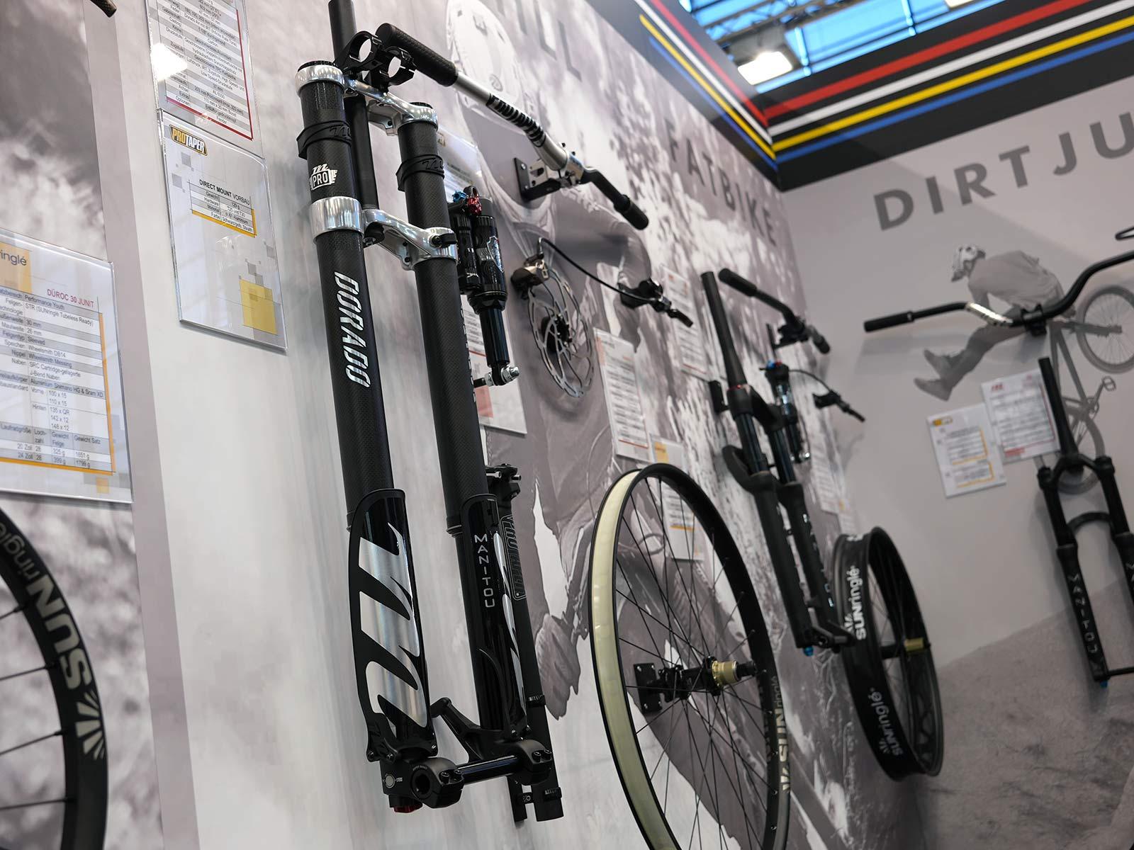 manitou dorado pro carbon fiber dual crown fork for downhill mountain bikes