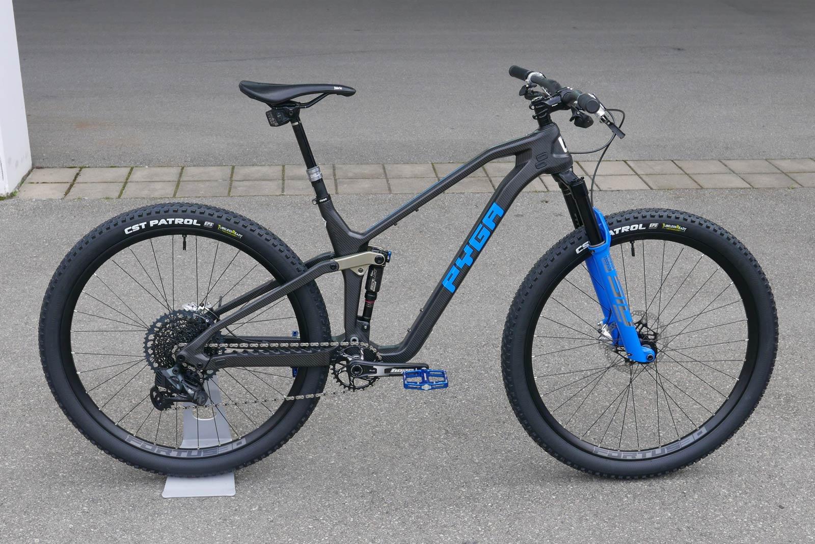 pyga mobu carbon full suspension mountain bike made in south africa