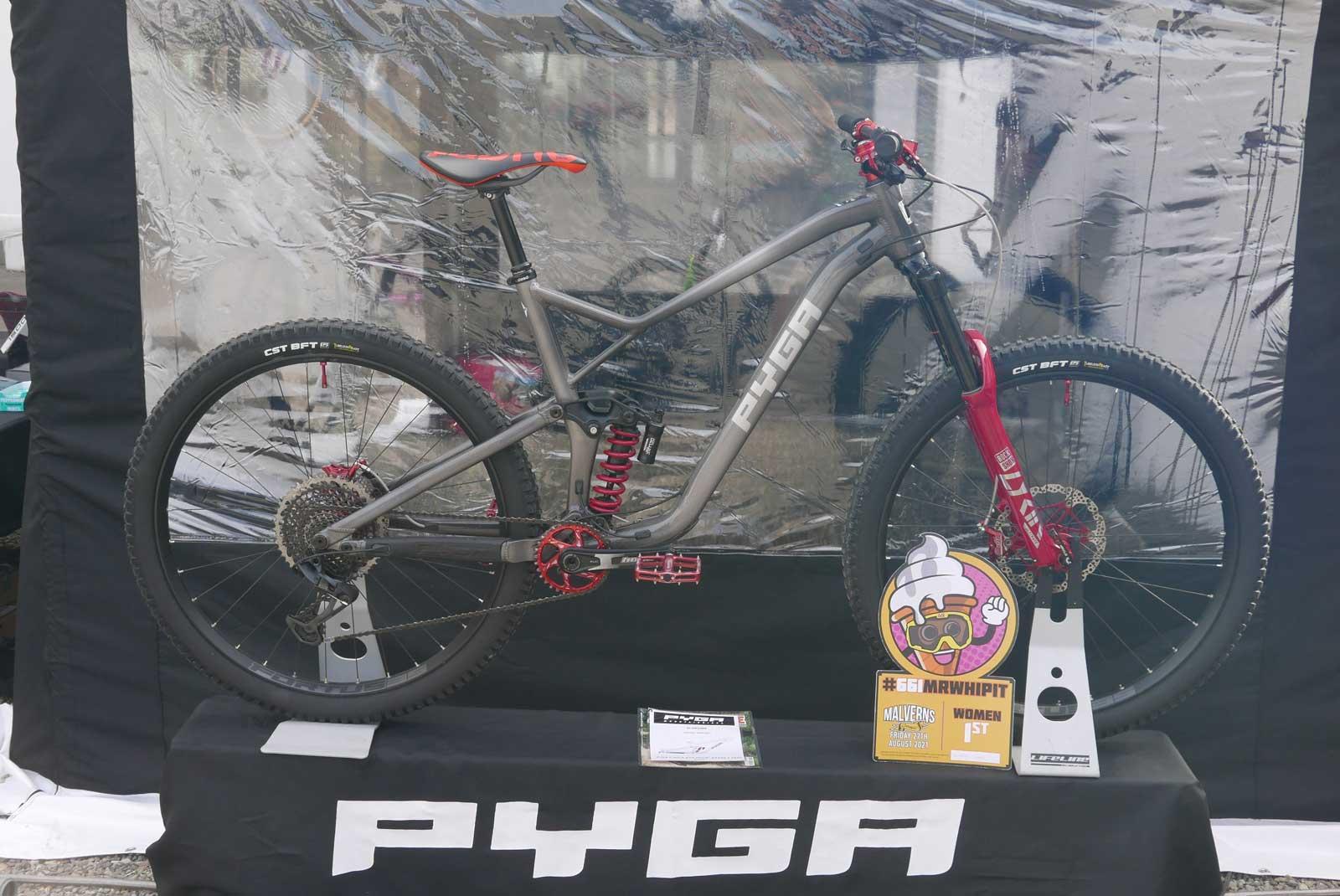 pyga slackline 160mm travel enduro mtb alluminium frame made in south africa