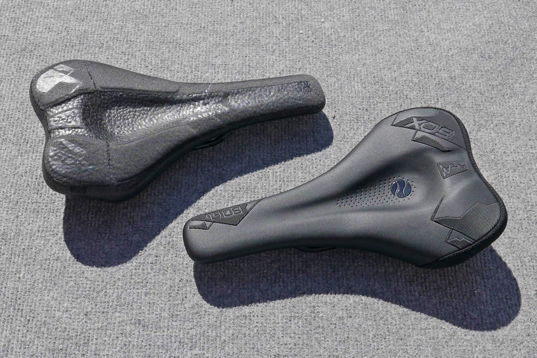 SQlab 60X Infinergy Ergowave ergonomic MTB saddle, old vs. new