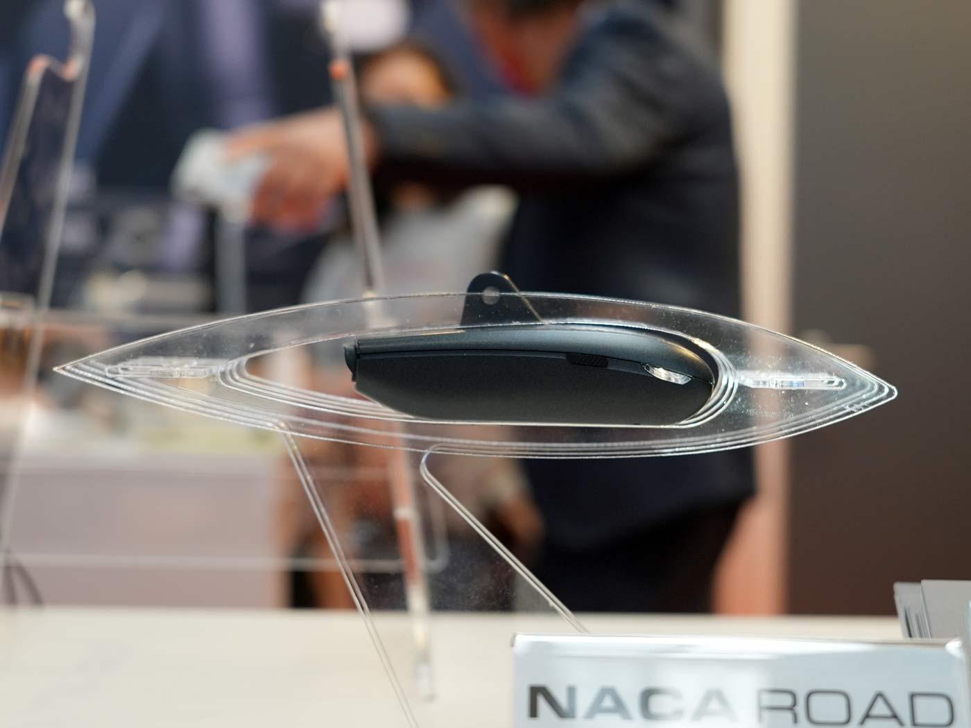 lightskin naca profile aerodynamic road bike headlight