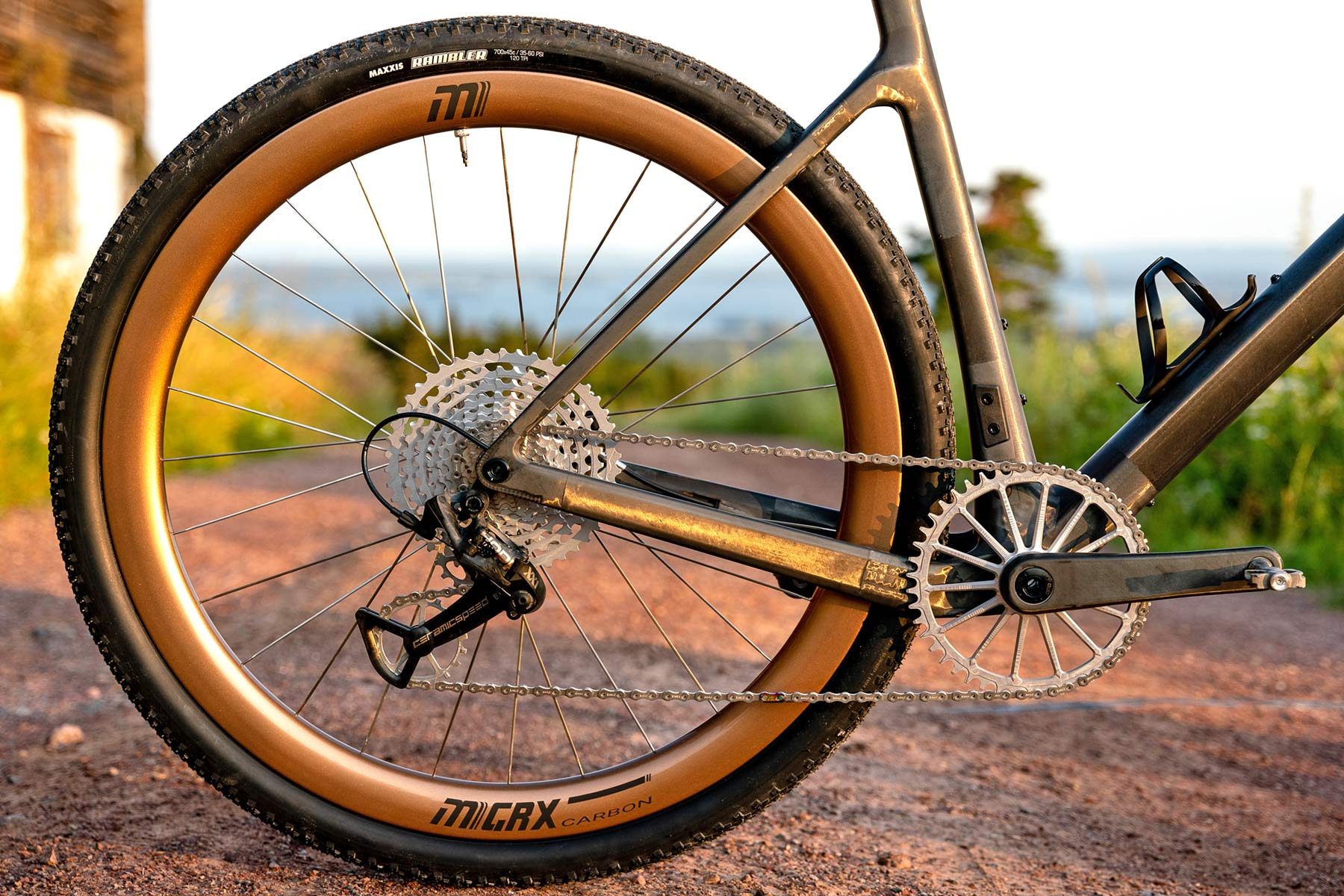 custom Scott Addict Gravel Tuned Dangerholm edition lightweight carbon prototype gravel bike project,1x12-speed drivetrain mechanical