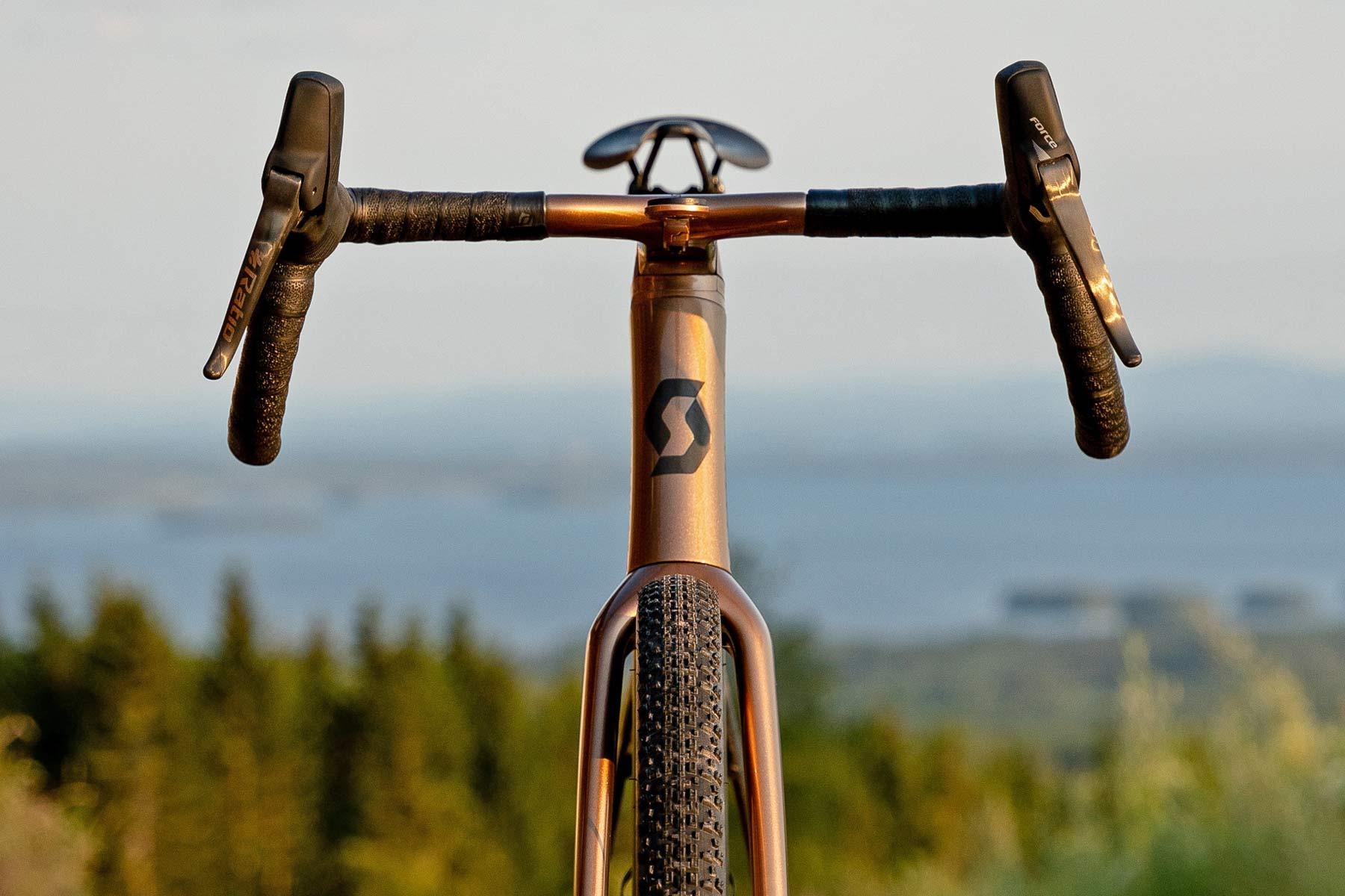 custom Scott Addict Gravel Tuned Dangerholm edition lightweight carbon prototype gravel bike project,fully integrated