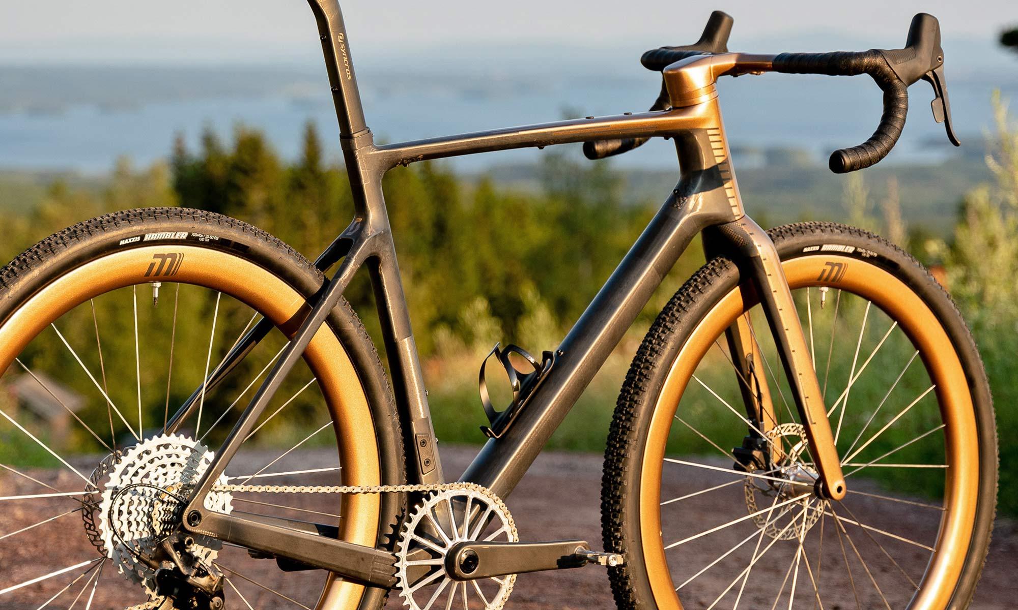 custom Scott Addict Gravel Tuned Dangerholm edition lightweight carbon prototype gravel bike project,angled detail