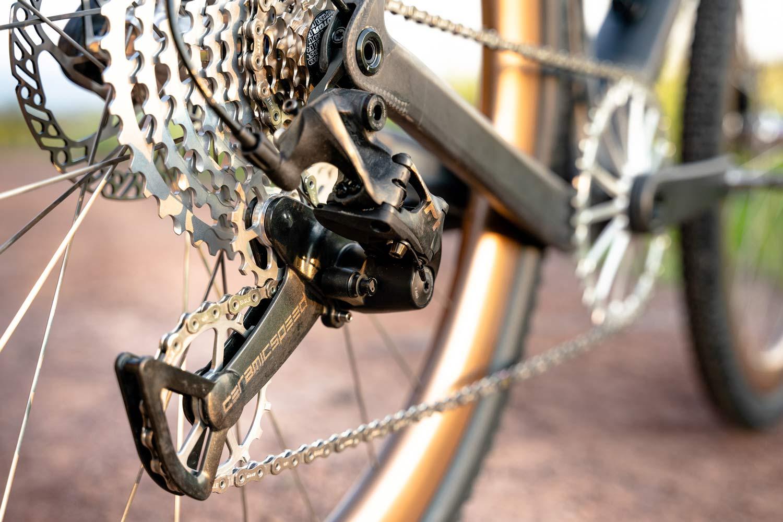 custom Scott Addict Gravel Tuned Dangerholm edition lightweight carbon prototype gravel bike project,drivetrain