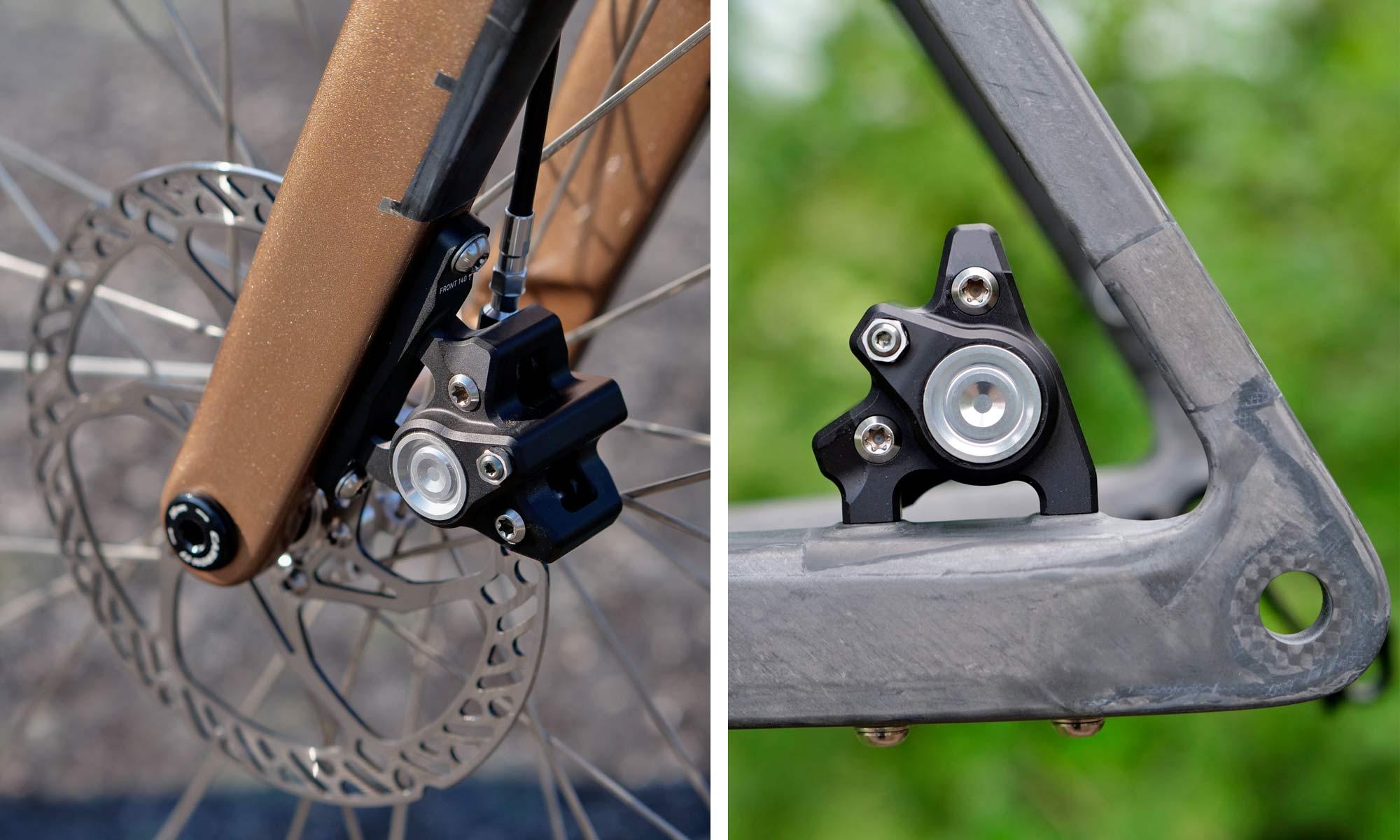 custom Scott Addict Gravel Tuned Dangerholm edition lightweight carbon prototype gravel bike project,Trickstuff brakes