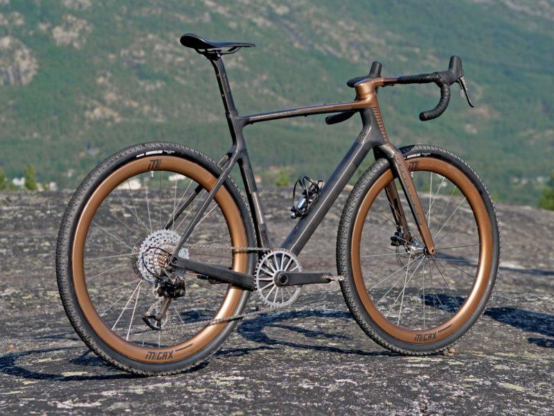custom Scott Addict Gravel Tuned Dangerholm edition lightweight carbon prototype gravel bike project,complete