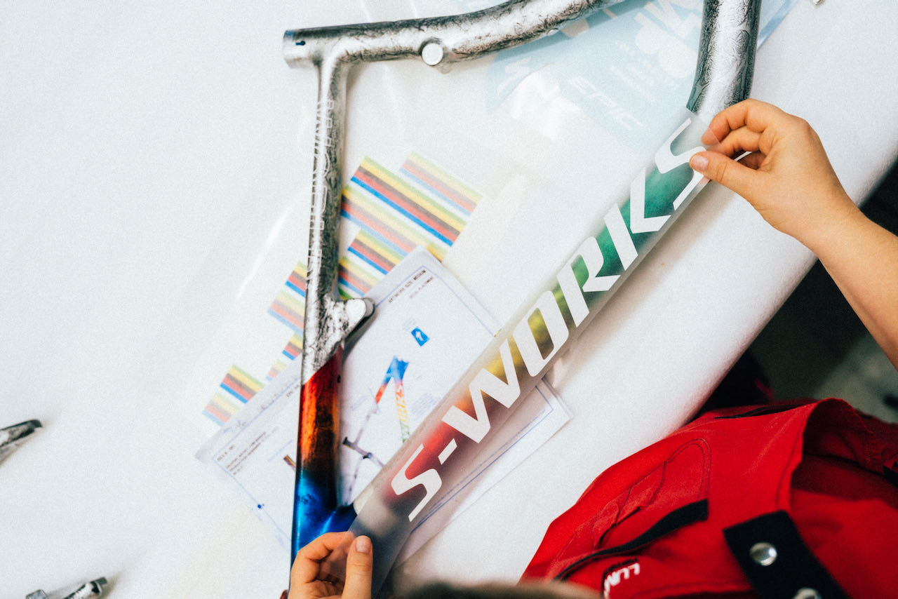 Specialized World Champion limited edition Epic S-Works stickers