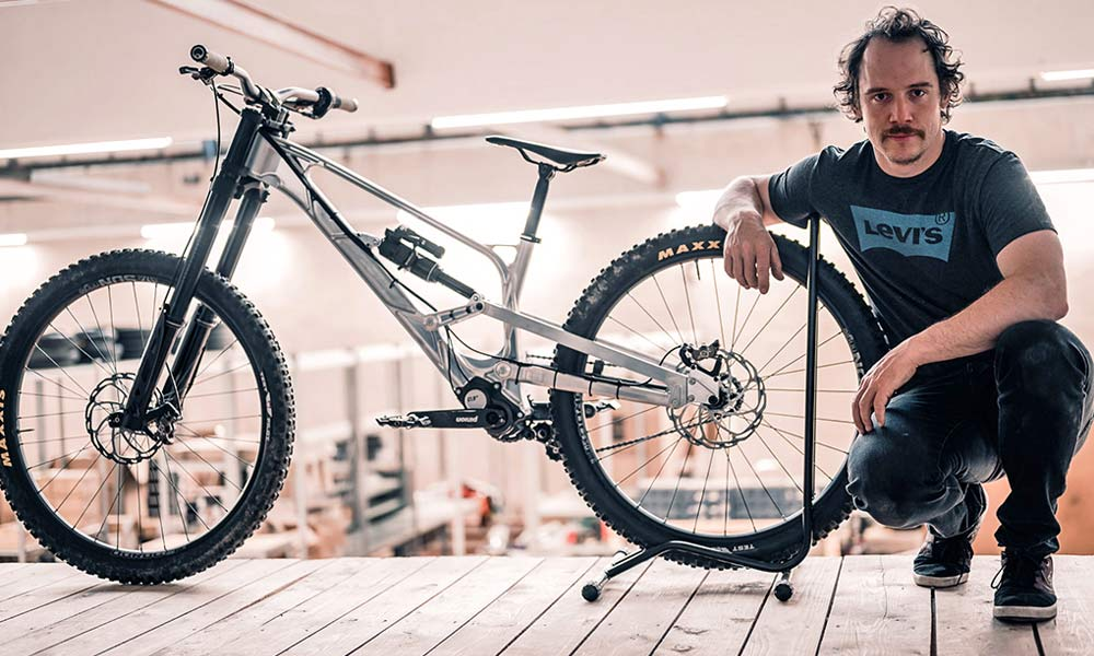 Gamux CNC 197 Gearbox DH, prototype Pinion gearbox downhill bike, Pascal Tinner