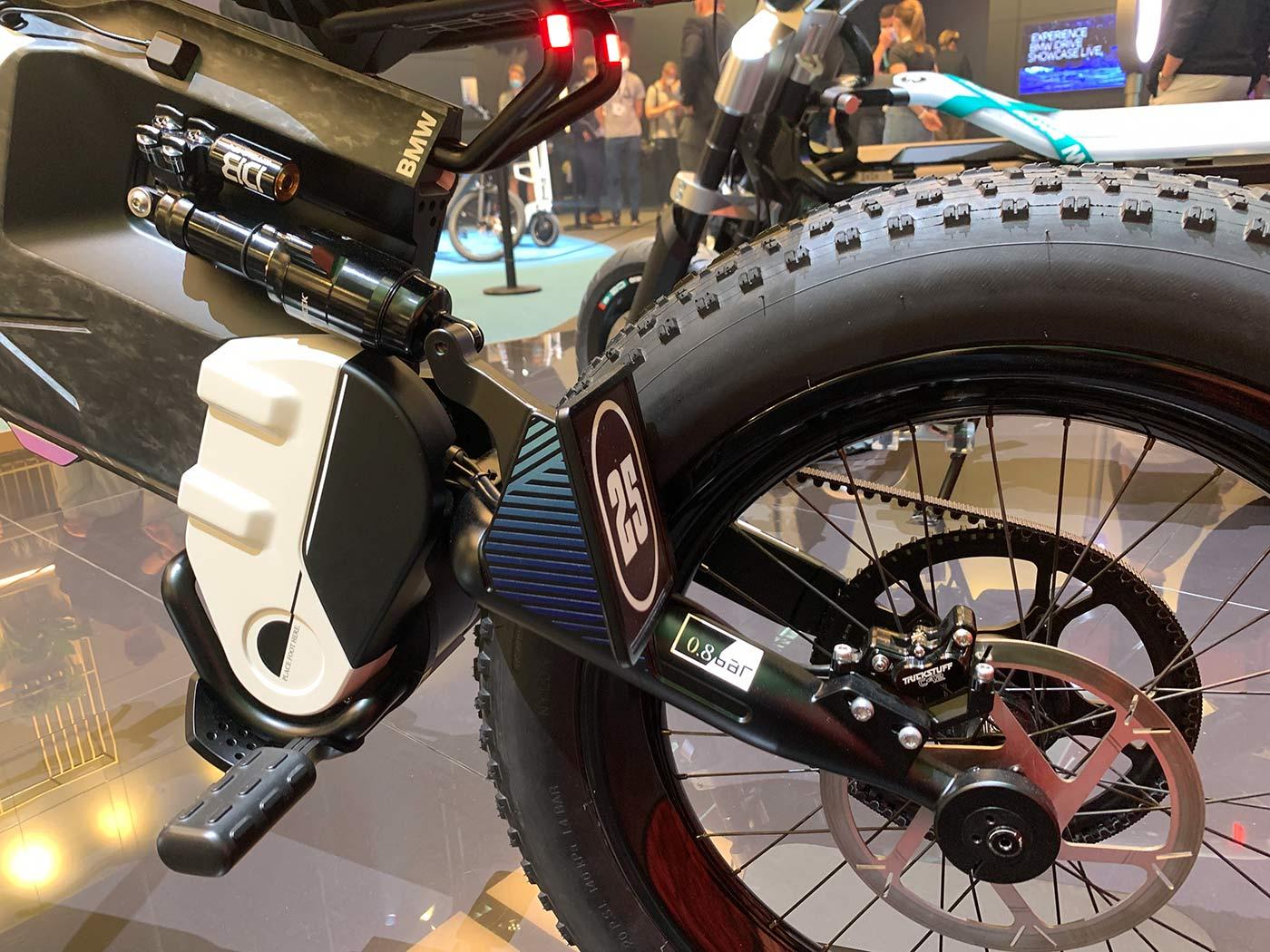 cane creek rear shock on BMW e-moto concept dirt bike