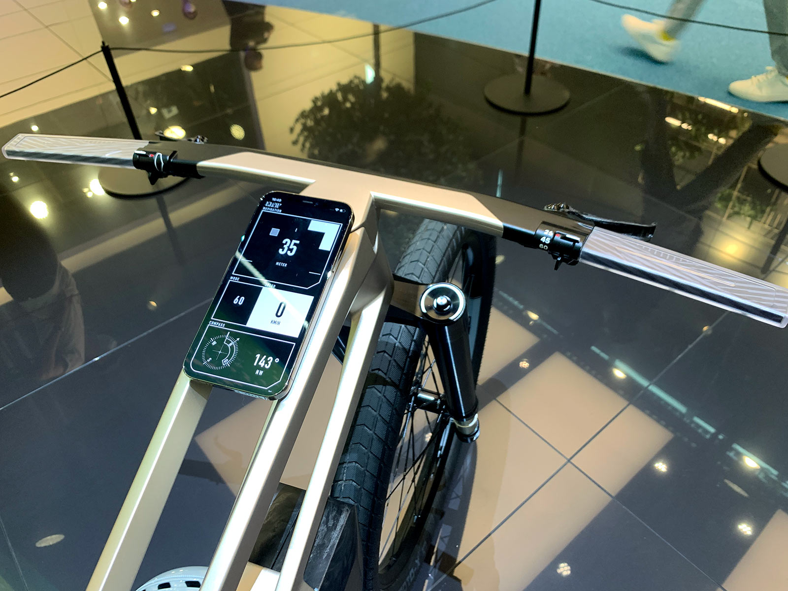 app with geofencing for location based speed limiting on BMW concept e-bike