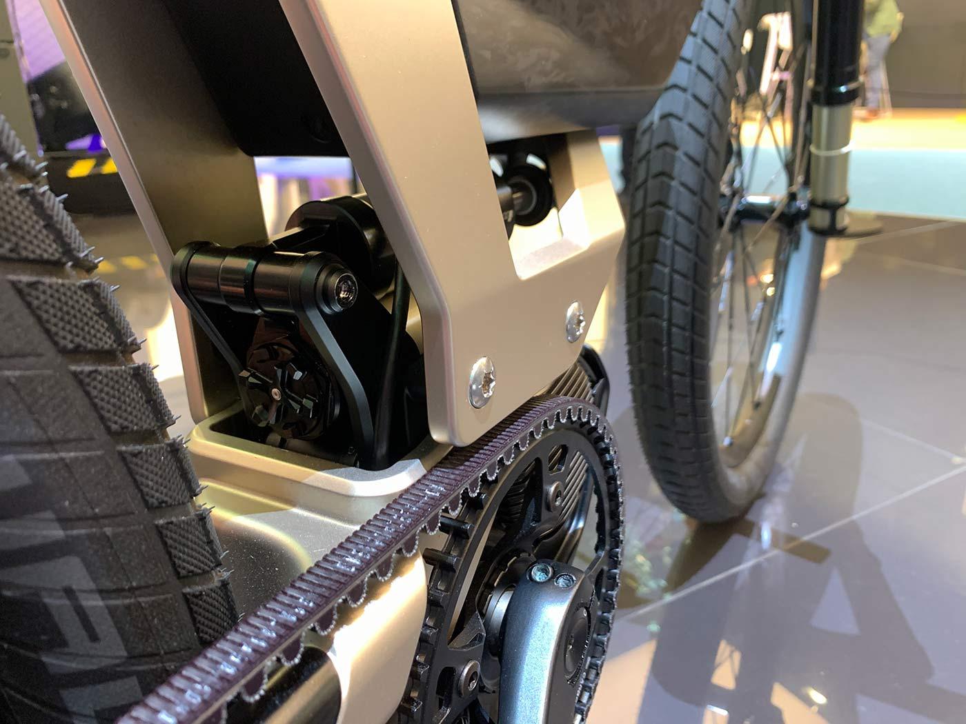 bmw concept e-bike motor and suspension closeup