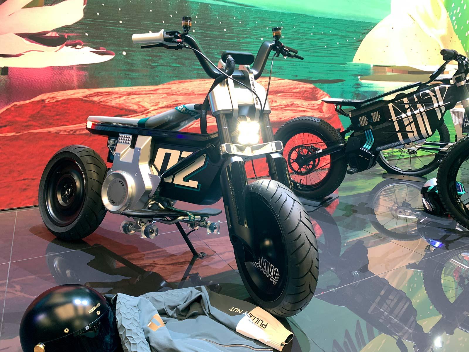 electric BMW motorad motorcycle concept