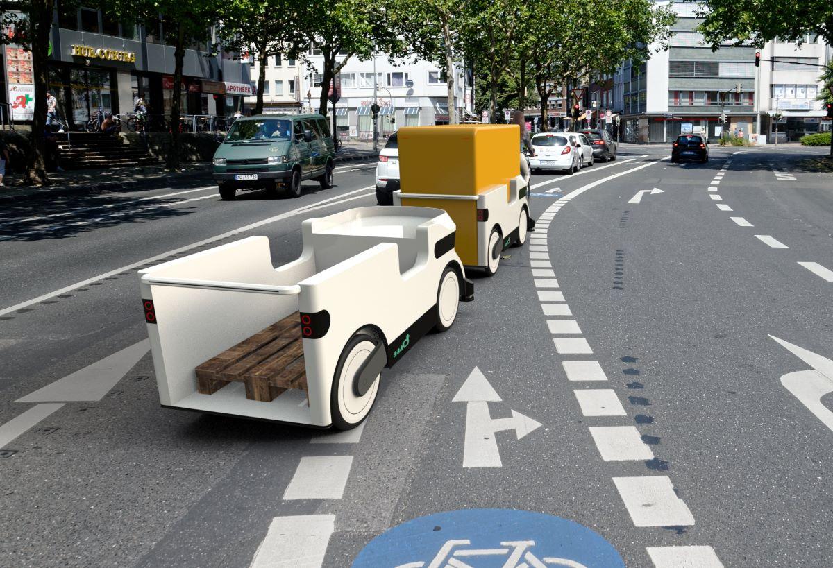 autonomous trailers that fit in bike lanes