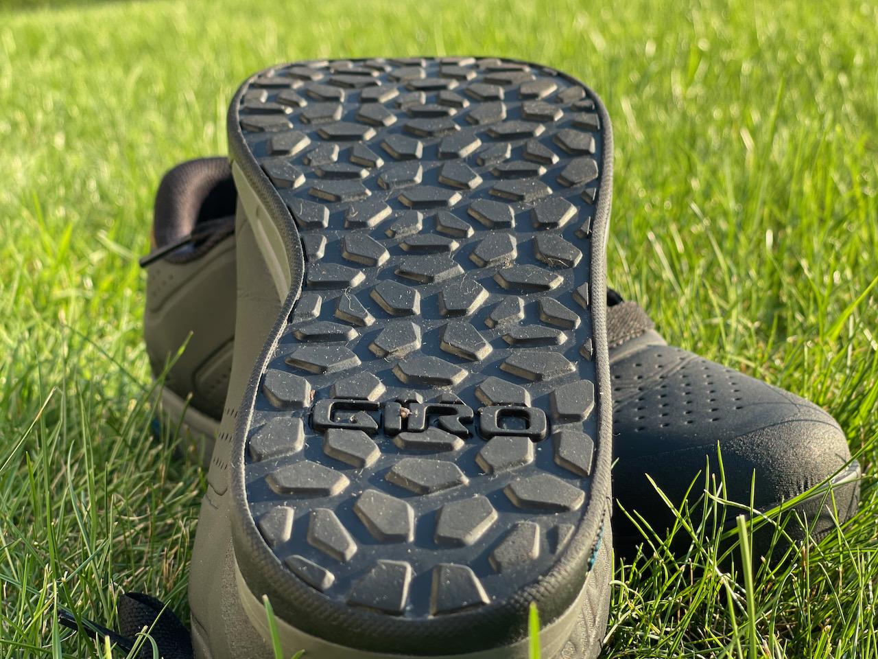 Giro Latch MTB shoes tread close up