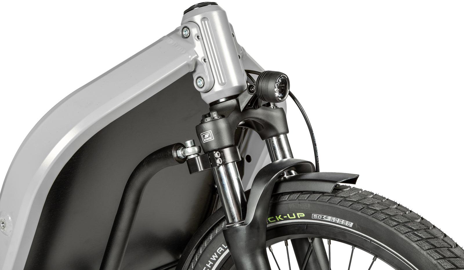 nicolai nc-1 cargo ebike 70mm travel suntour fork steering bump stops
