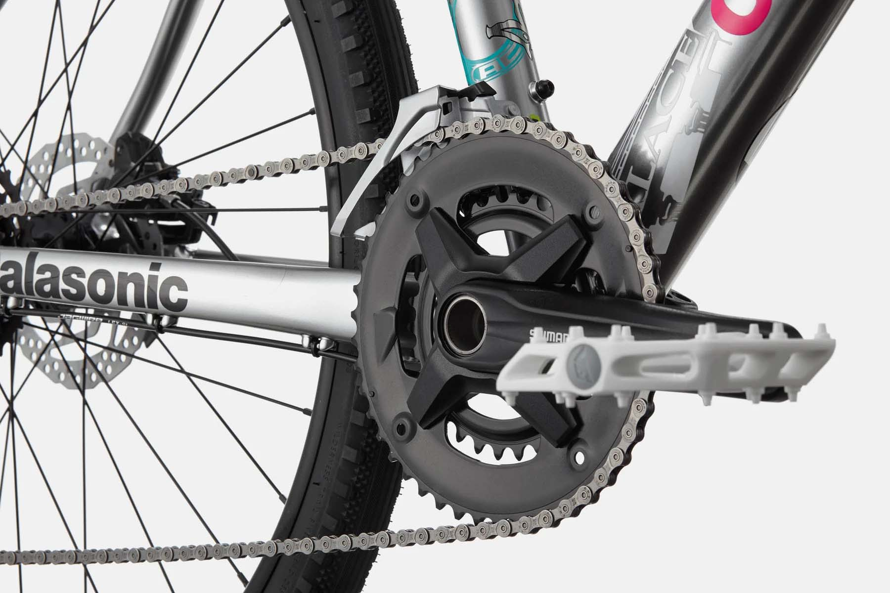 2x9 drivetrain with flat pedals