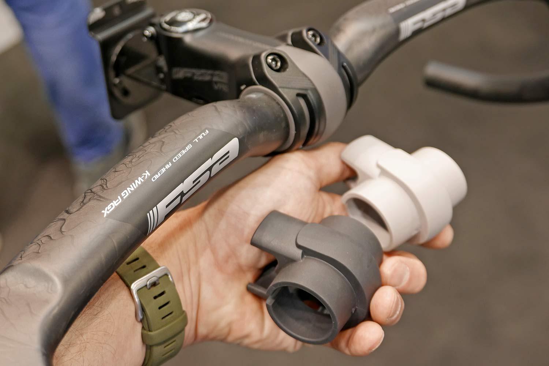 FSA NS VAS Vibration Absorbing Stem for gravel bikes, elastomers