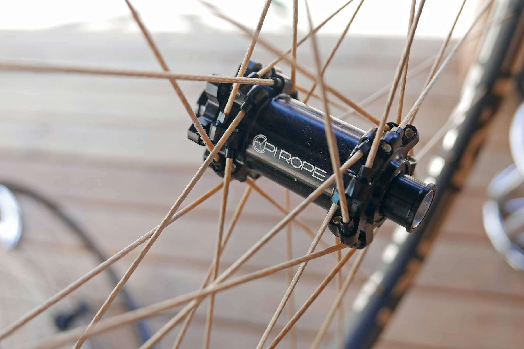 Pi Rope natural ultralight braided Vectran fiber spoke wheels