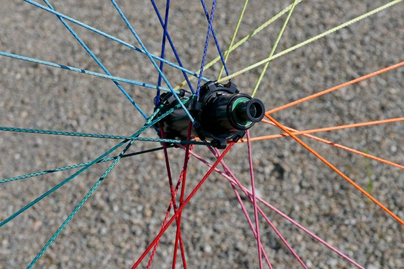 Pi Rope rainbow ultralight braided Vectran fiber spoke wheels