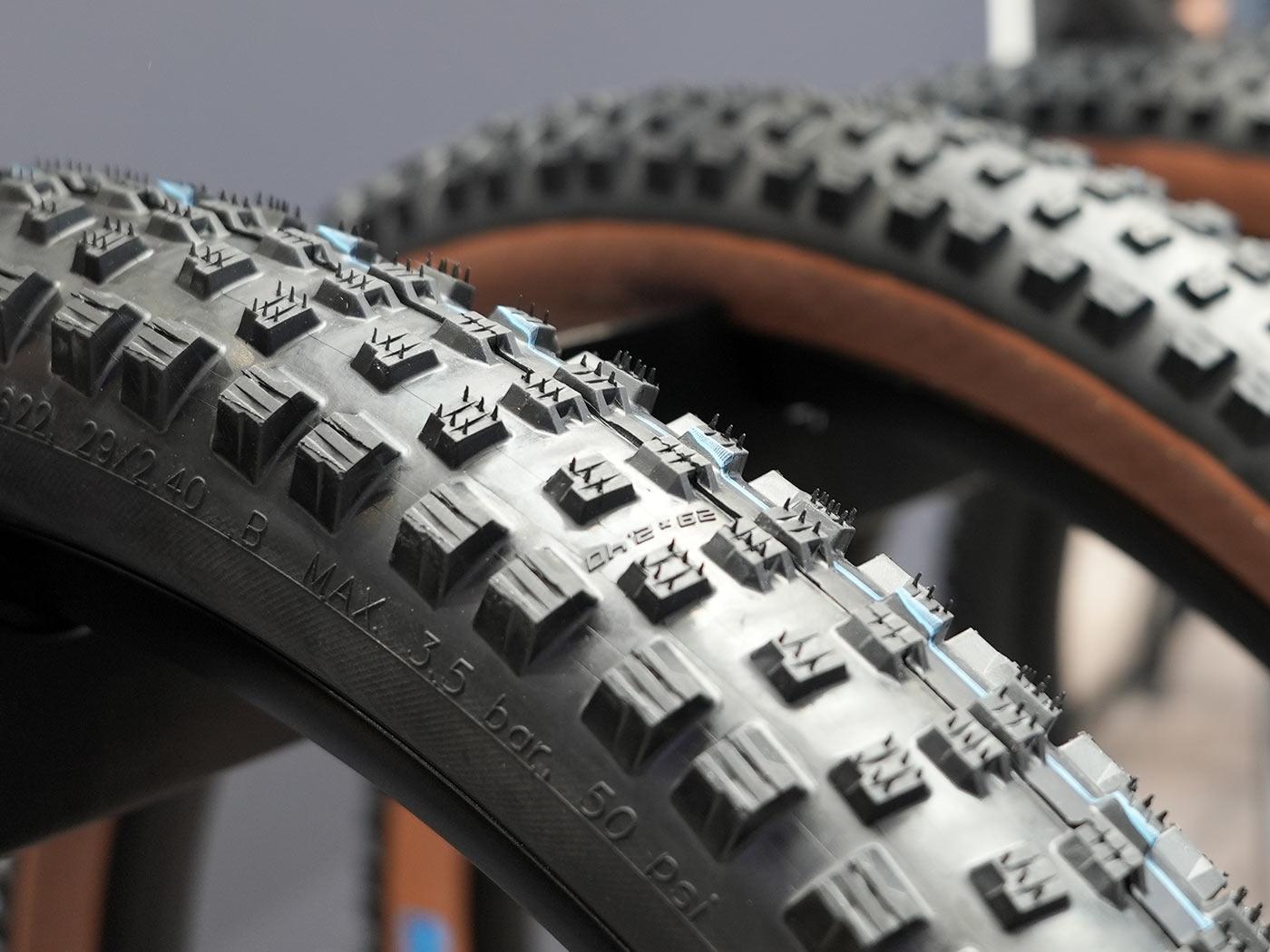 schwalbe wicked will mountain bike tire tread closeup