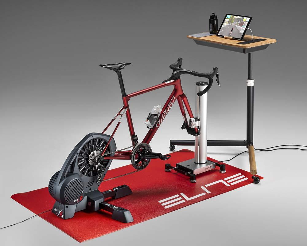 Elite Training Desk multi-purpose indoor training gadget table, complete Elite indoor training setup