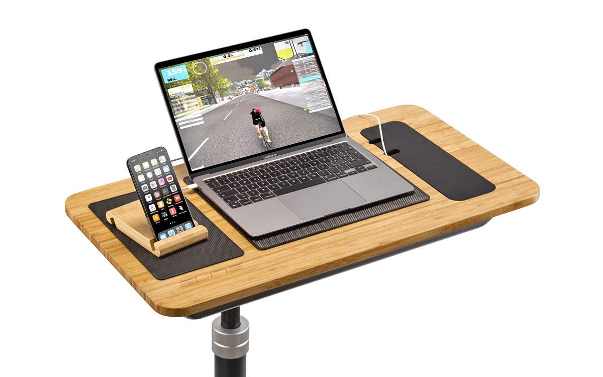 Elite Training Desk multi-purpose indoor training gadget table, phone & laptop