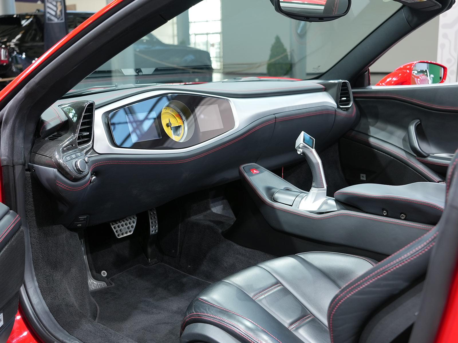 interior of autonomous driving ferrari