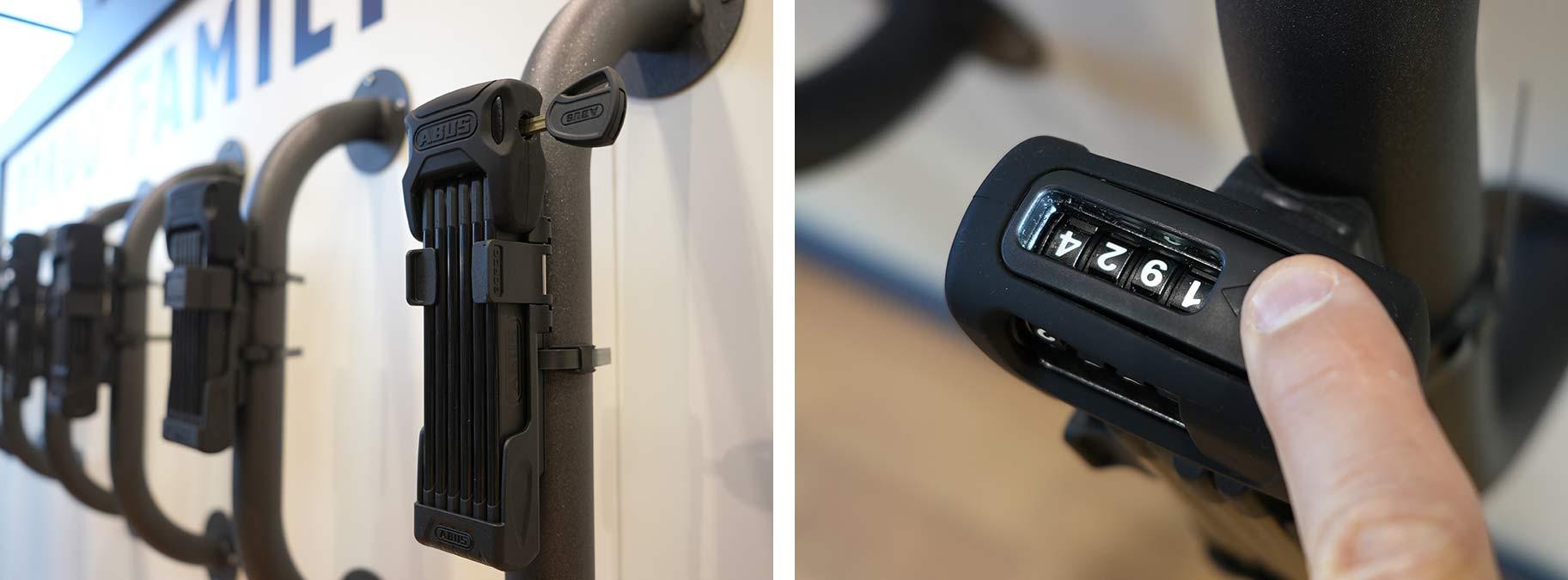 abus bordo 6000c led light up combination folding bicycle lock