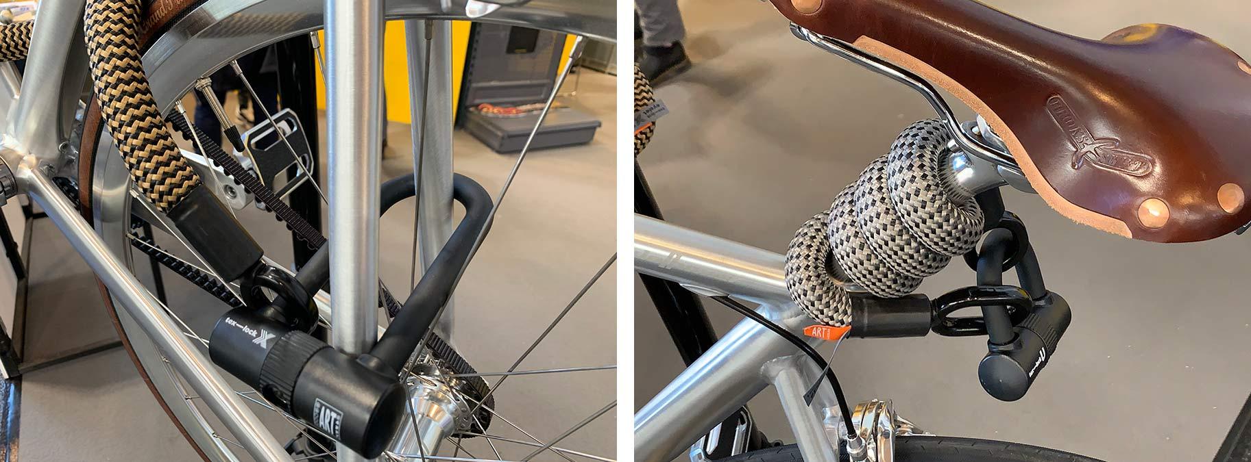 Tex-Lock cable and u-lock shackle combo bicycle locks
