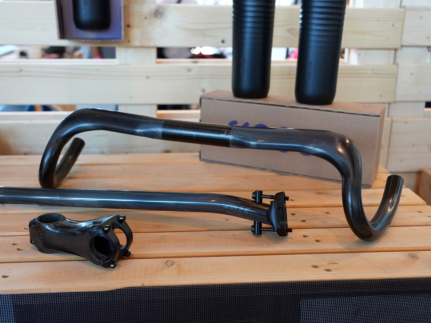 m83 beast components carbon gravel bike handlebar stem and seatpost