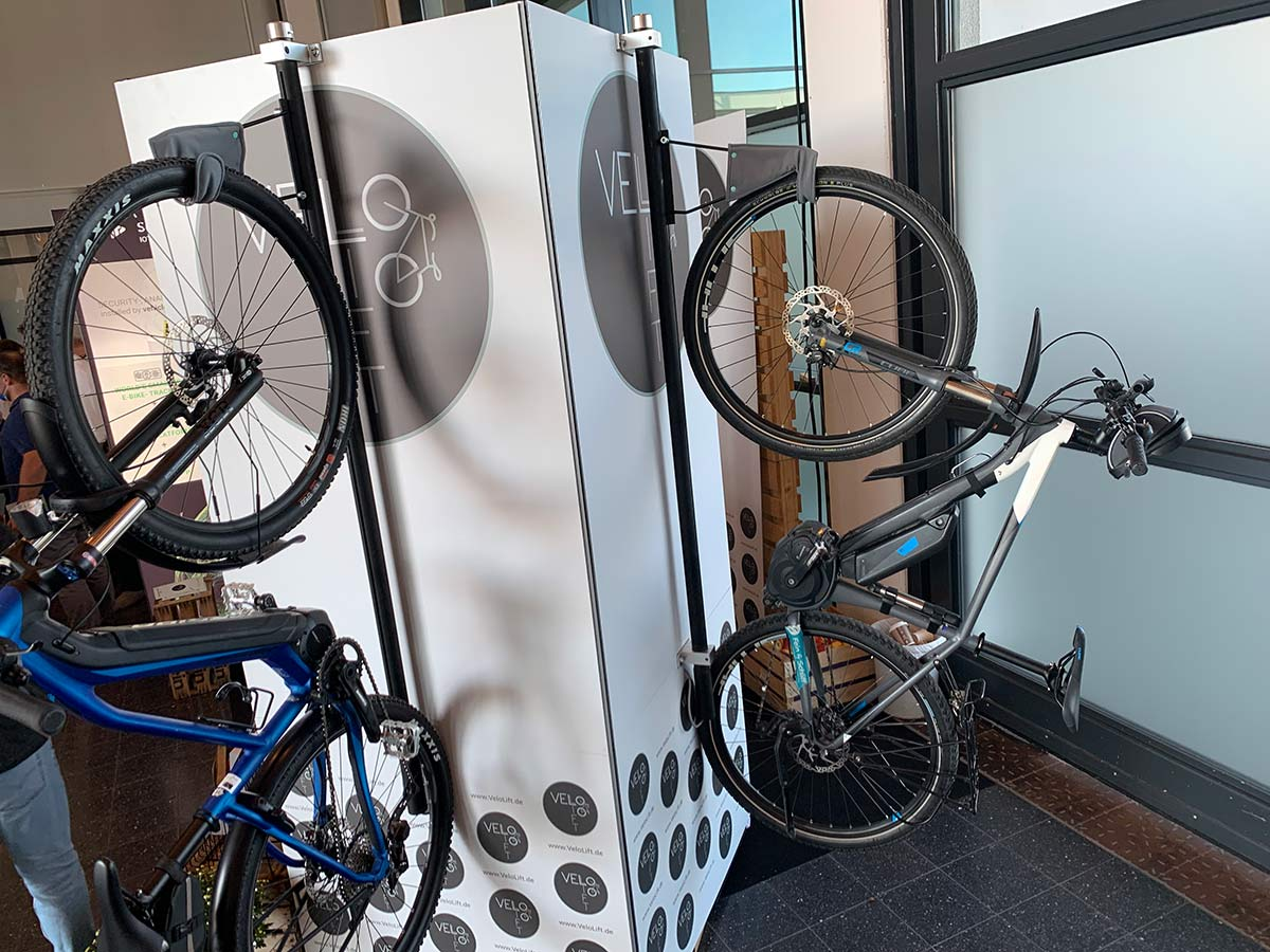 BikeLift motorized wall mounted bicycle storage