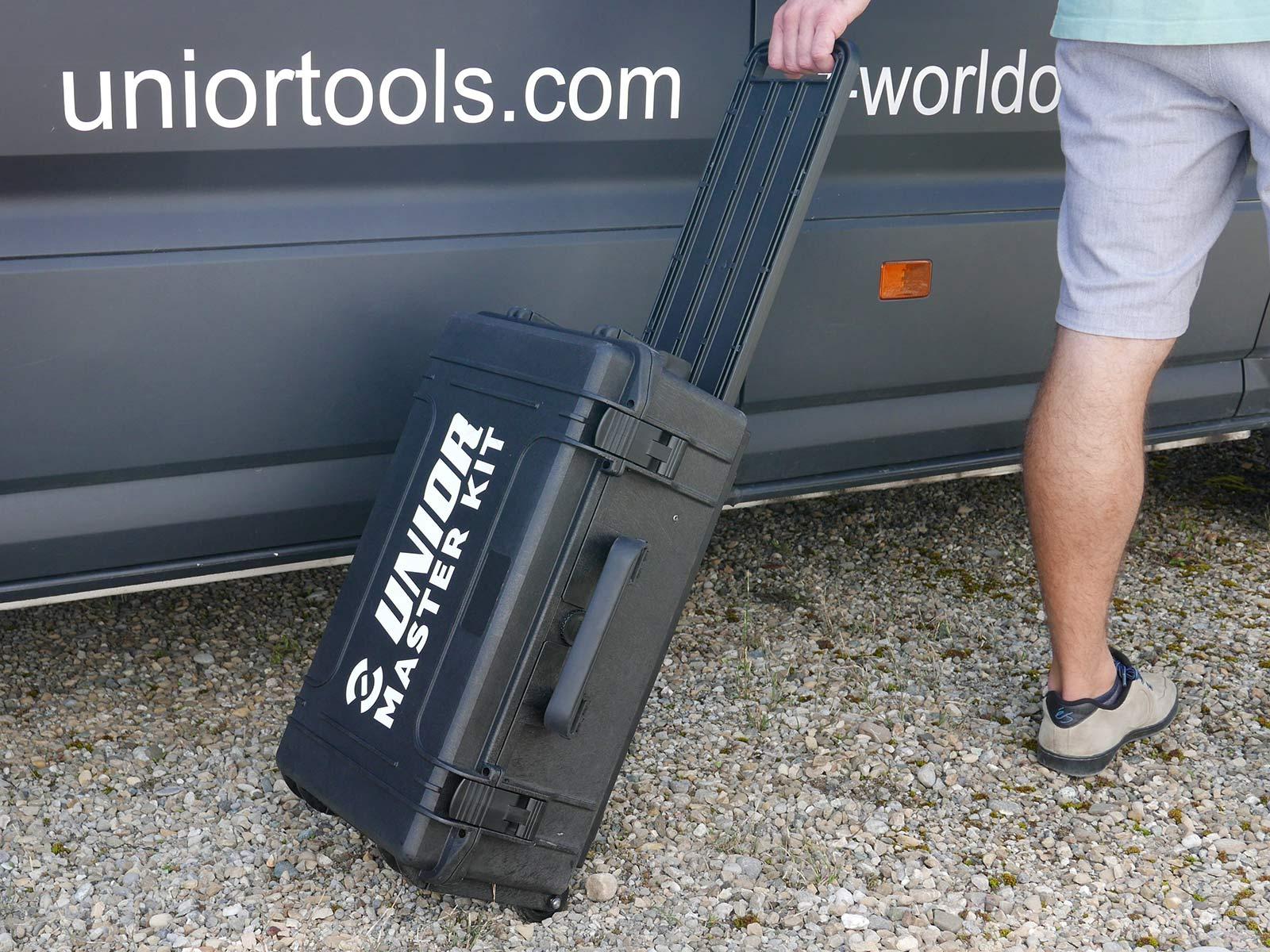 Unior Master Kit professional bike mechanic travel toolbox made in Europe, rolling