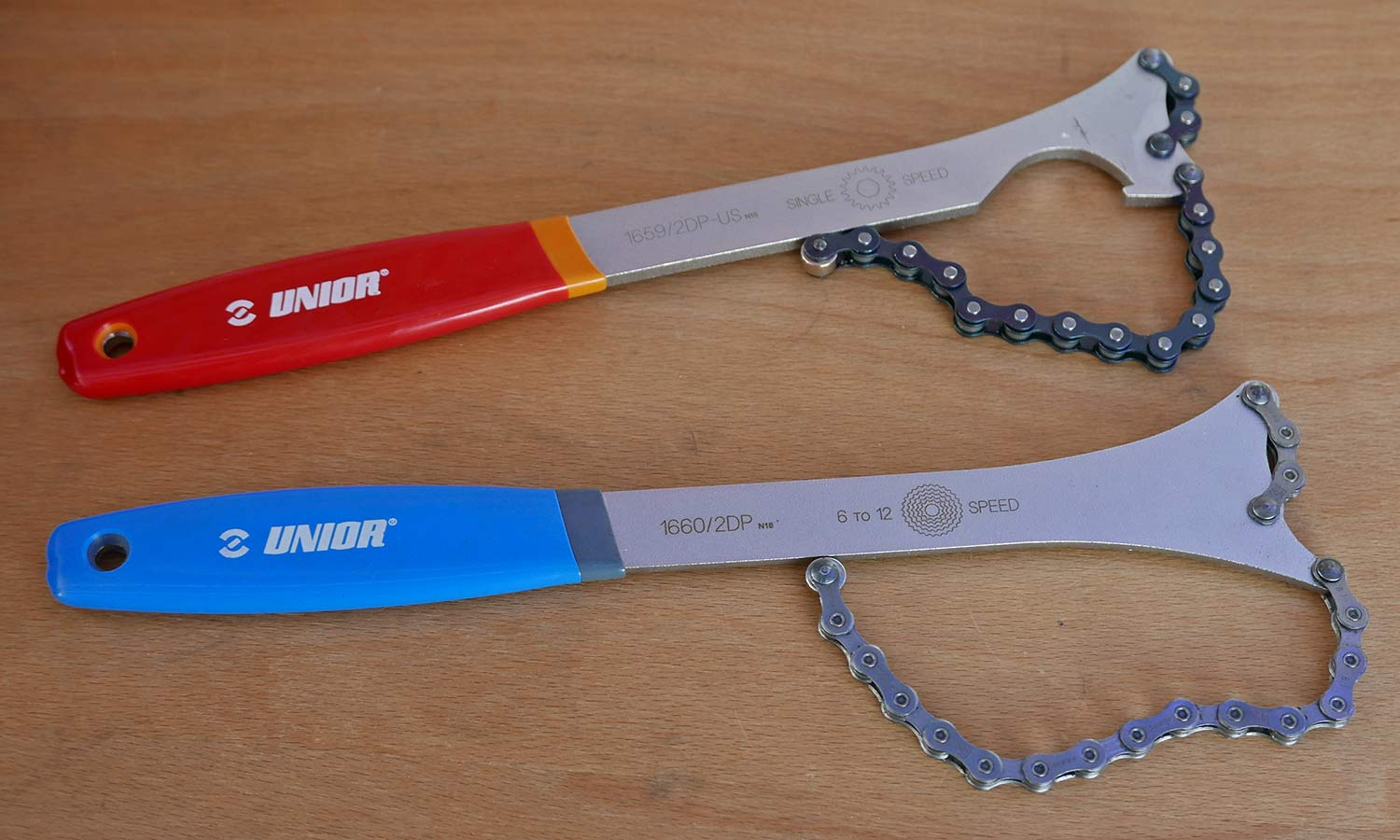 Unior professional bike tools made in Europe, chain whips