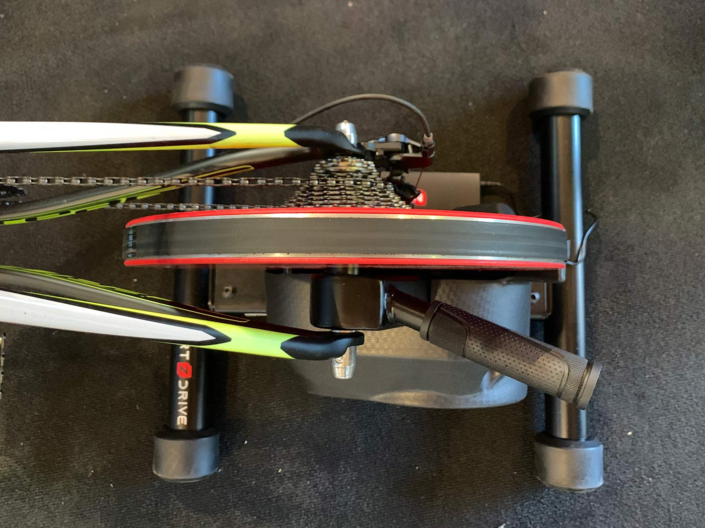 zycle z-drive smart trainer with highest resistance wattage