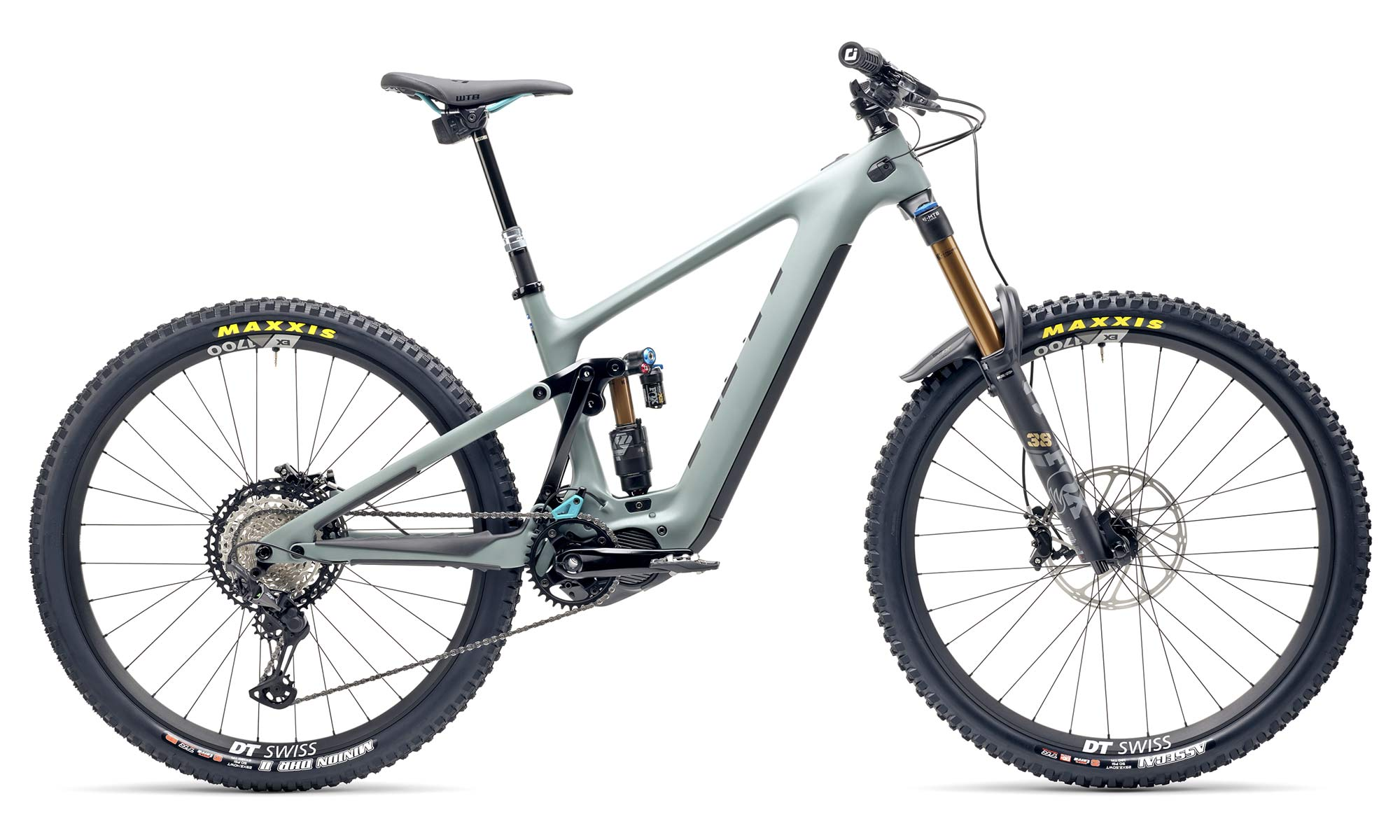 Yeti 160E EWS racing e-bike, all-new 6-bar suspension carbon 160mm eMTB,T1 gray complete