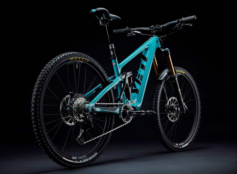 Yeti 160E EWS racing e-bike, all-new 6-bar suspension carbon 160mm eMTB,angled rear
