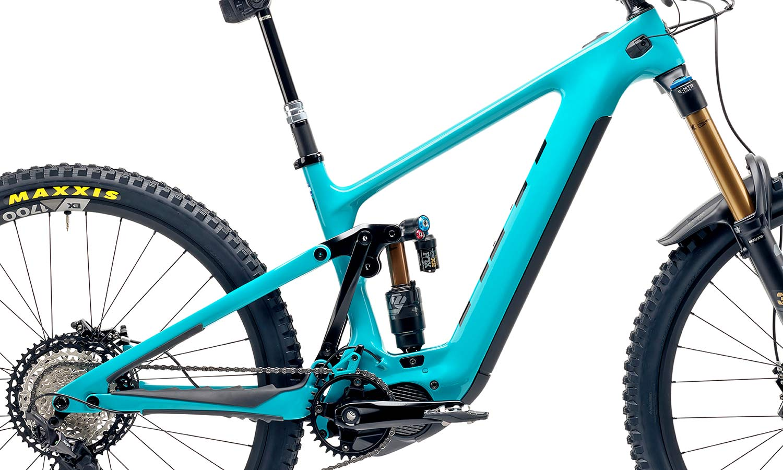 Yeti 160E EWS racing e-bike, all-new 6-bar suspension carbon 160mm eMTB,Sixfinity suspension frame detail
