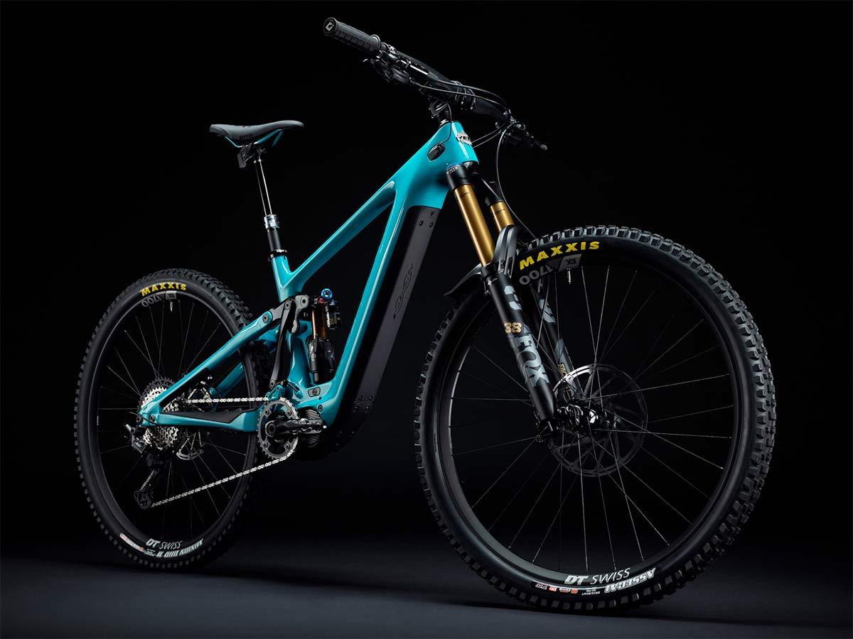 Yeti 160E EWS racing e-bike, all-new 6-bar suspension carbon 160mm eMTB,angled