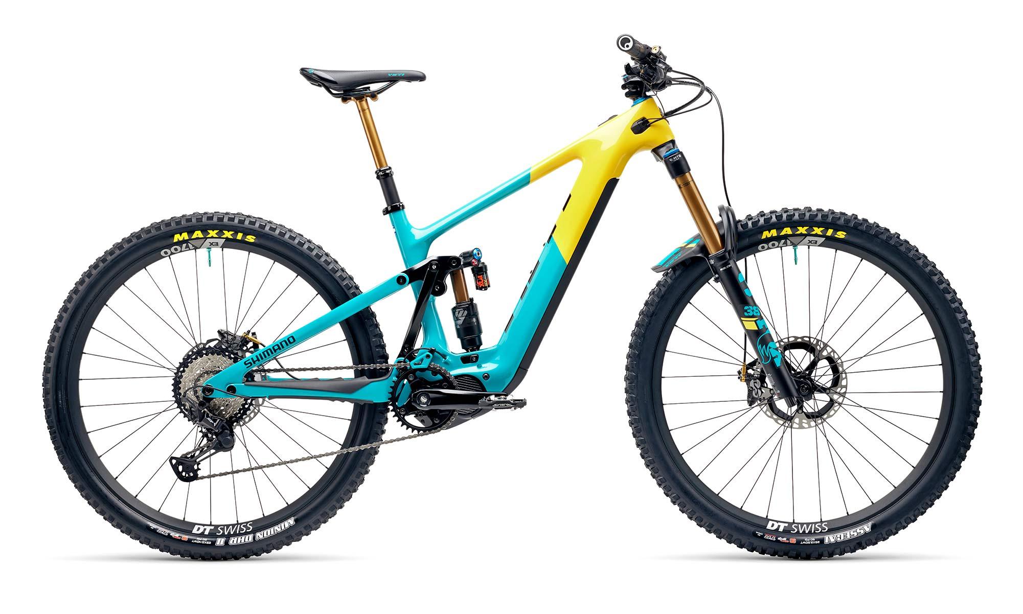 Yeti 160E EWS racing e-bike, all-new 6-bar suspension carbon 160mm eMTB,team edition