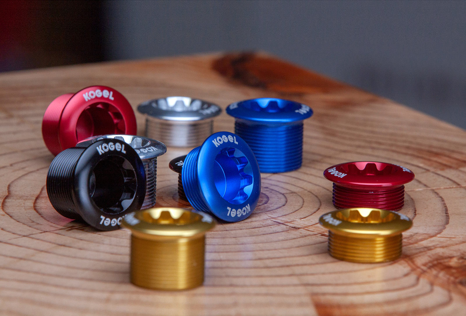 kogel shimano crank arm fixing bolt in anodized colors