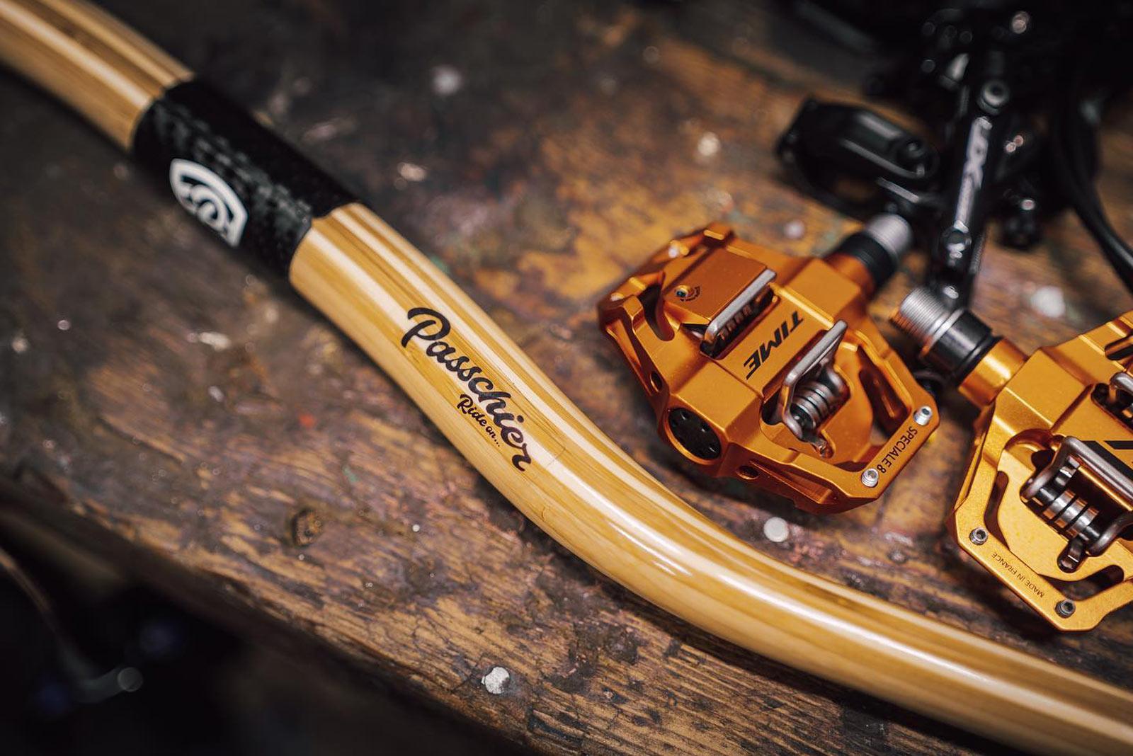 passchier gump bamboo handlebar 31.8mm clamp carbon fibre region