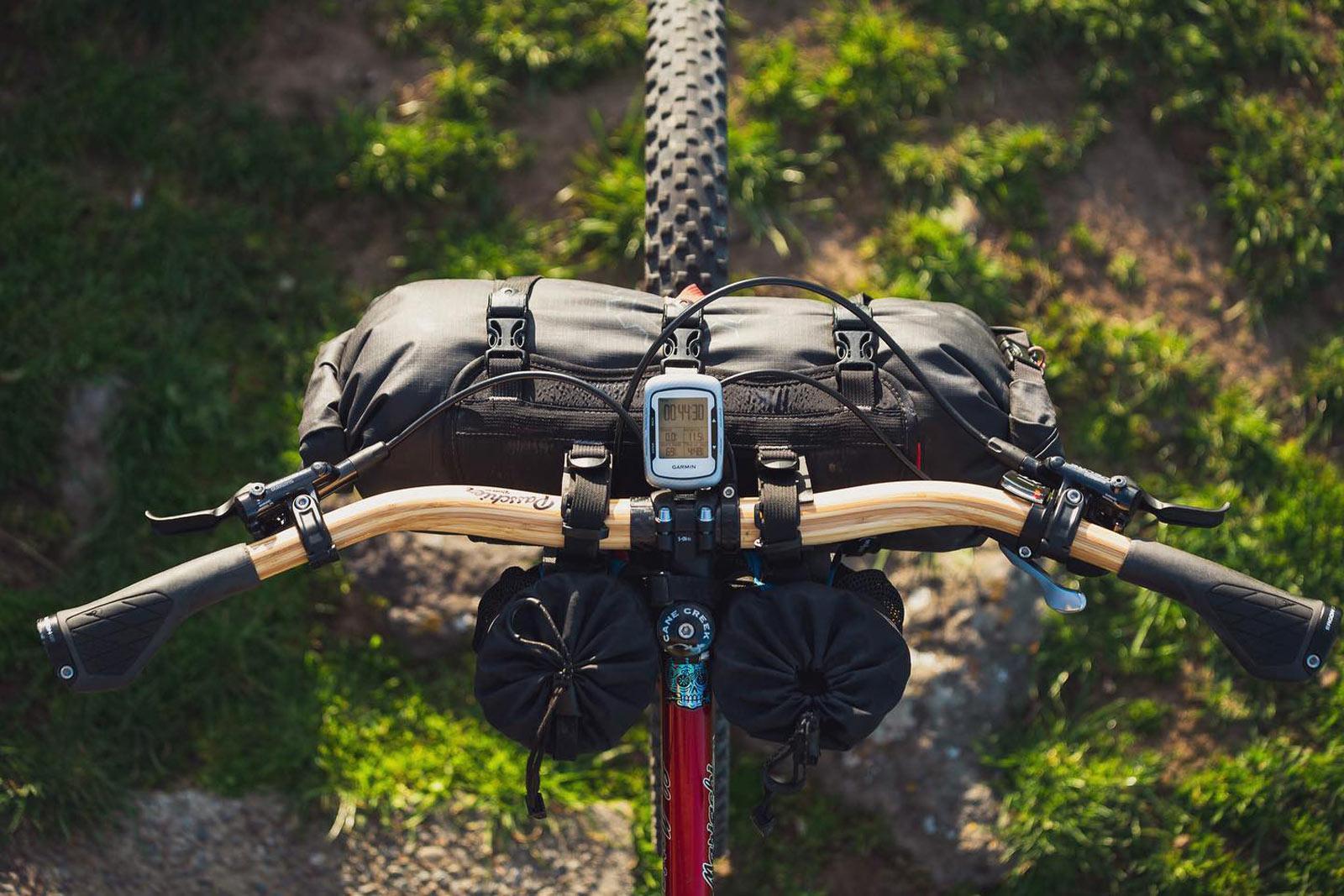passchier gump bamboo handlebar bikepacking setup reduced hand arm fatigue