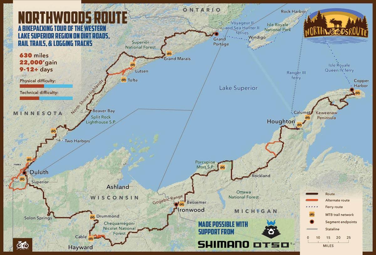 Northwoods Route bikepacking