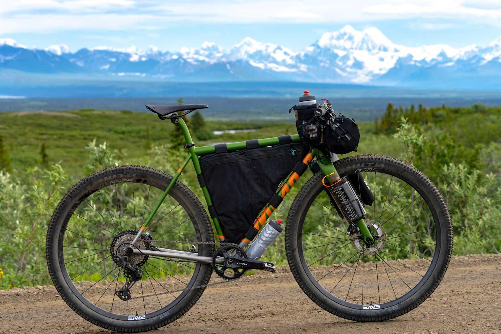 """mosaic gt-2x bikepacking setup lightweight titanium frameset 29 x 2.25"""" clearance"""