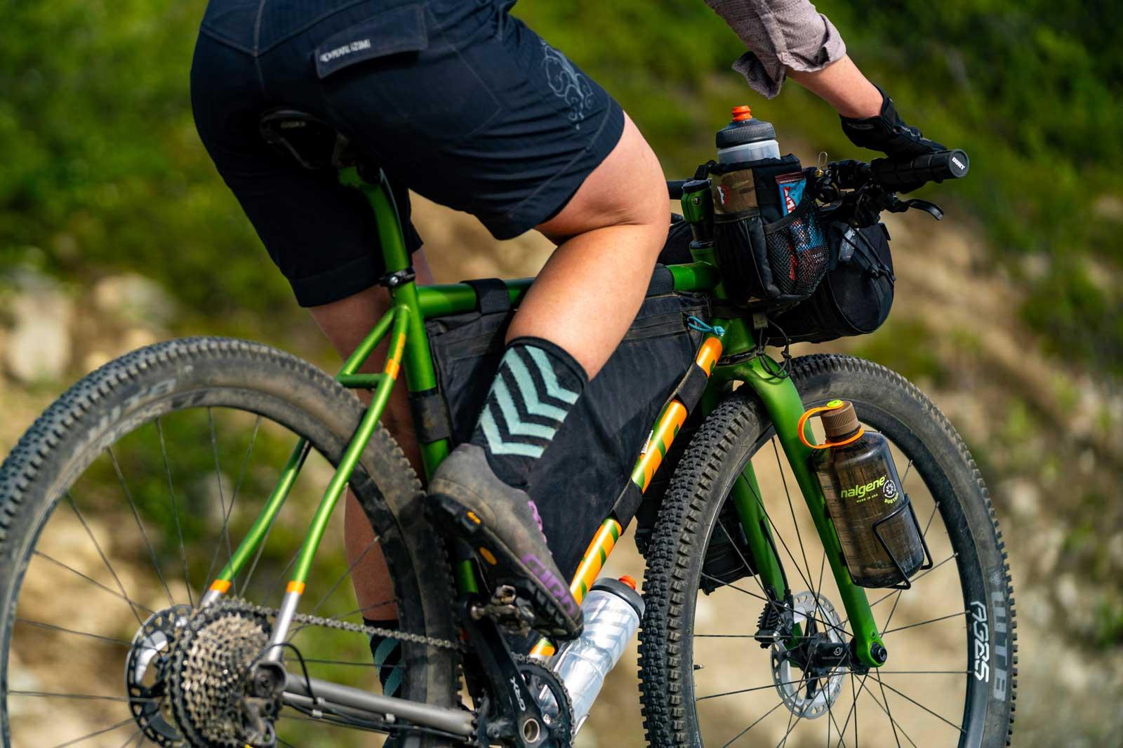 mosaic titanium gravel bike gt-2x bikepacking setup