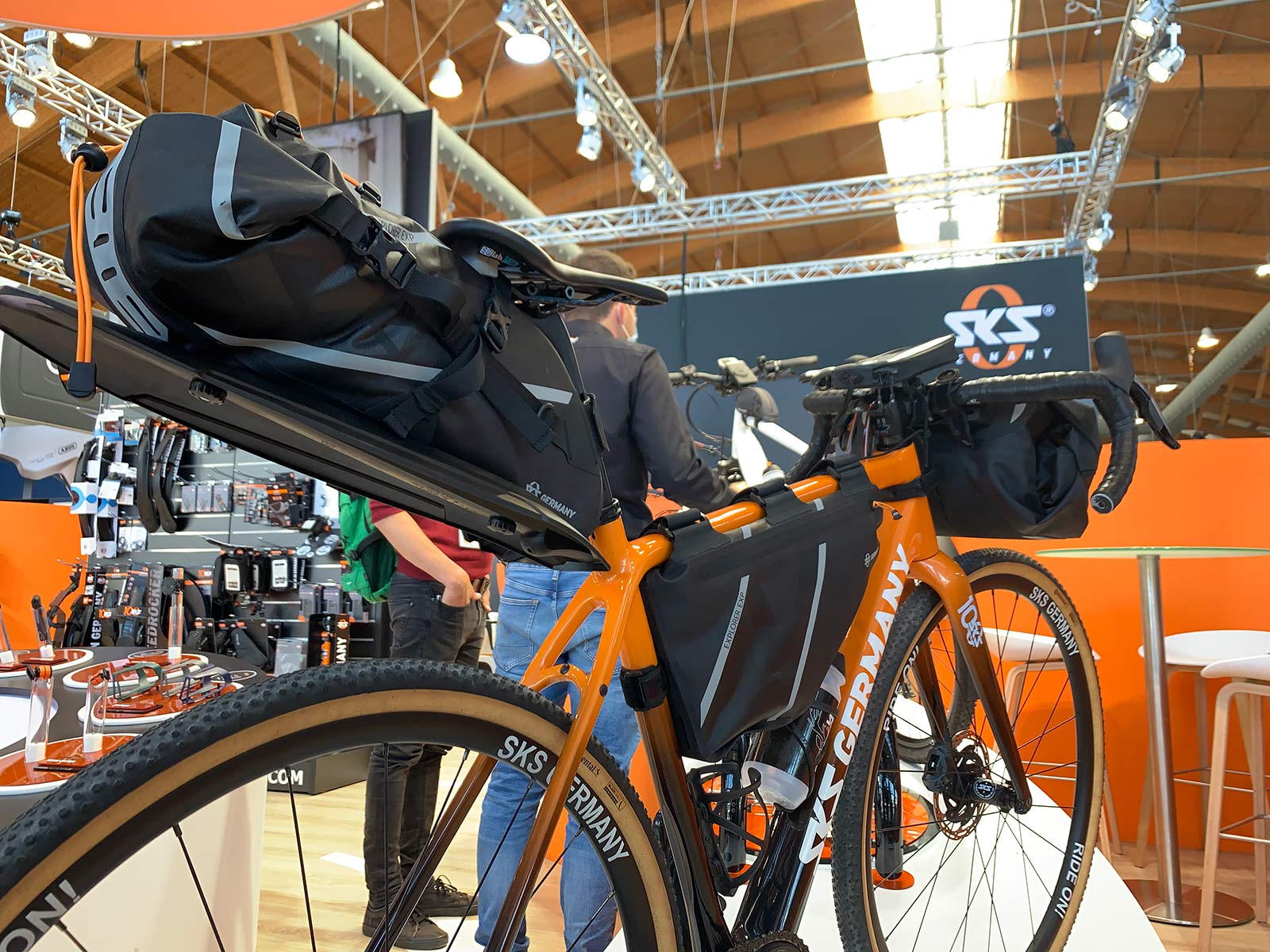 sks explorer series frame bags with integrated rear fender